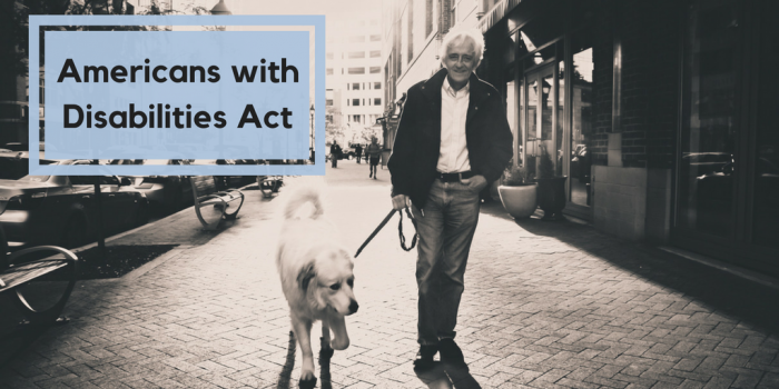 Americans with Disabilities Act, service dog nuvet labs dog tips